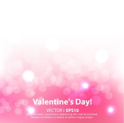Vector Valentine's day background with hearts. VecPS 10 illustration.