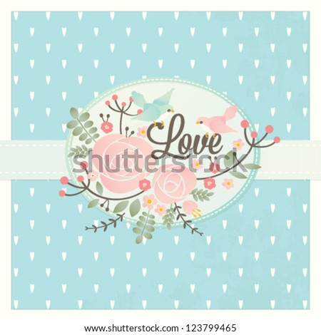 Vector Valentine's day love card template