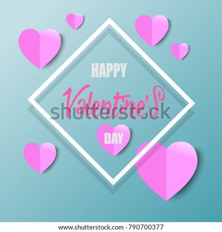 Vector Valentines Day with Heart Shape Typography Greeting Cards, Posters and Flyers #790700377