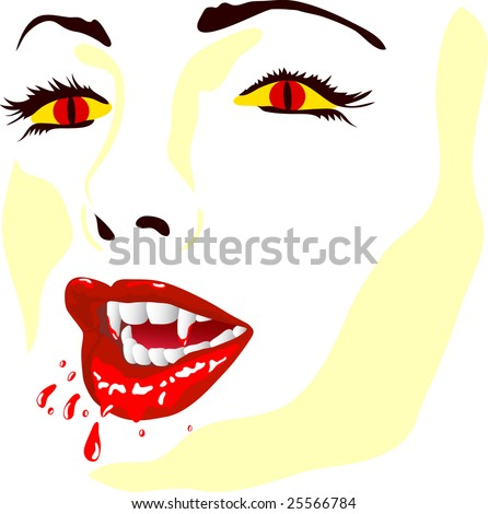 vector - vamp face isolated on background