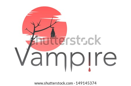 vector vampire text with bloody