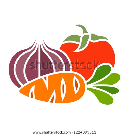 vector vegetables icon. Flat illustration of vegetables. vegetables isolated on white background. vegetables sign symbol  #1224393511