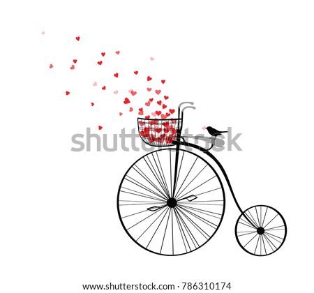 vector velocipede silhouette