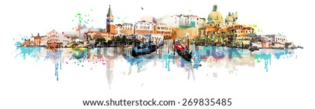 vector venice panoramic