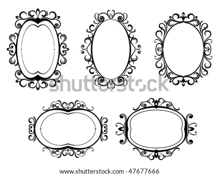 Vintage Frames Silhouettes - Download Free Vector Art, Stock ...