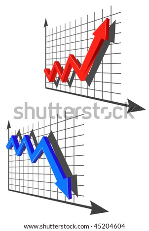 Vector version. Color graph for design and business concept. Jpeg version is also available