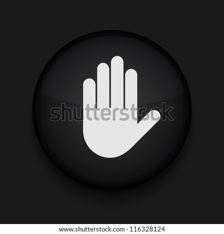 Vector version. Hand icon. Eps 10 illustration. Easy to edit