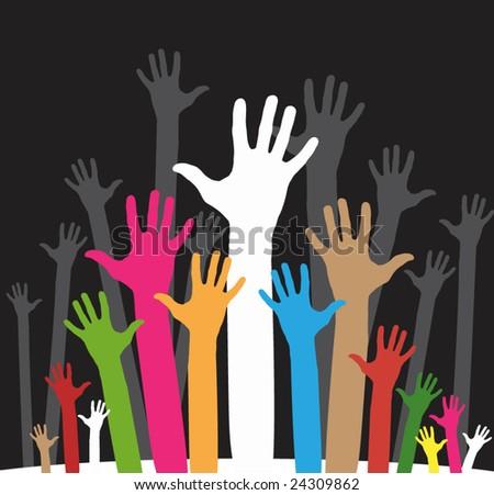 vector version of happy volunteering hands - part 3