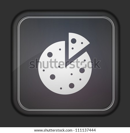 Vector version. Pizza icon. Eps 10 illustration. Easy to edit