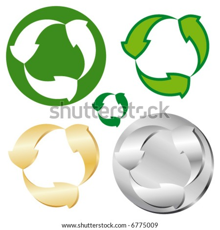 Vector version. Recycle signs.
