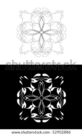 Vector version. Swirl elements and monograms for design and decorate. #52902886
