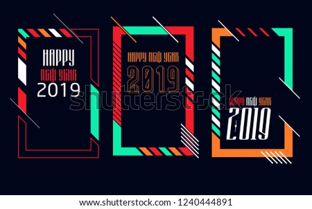 vector vertical background frame for text modern art graphics for hipsters happy new year 2019