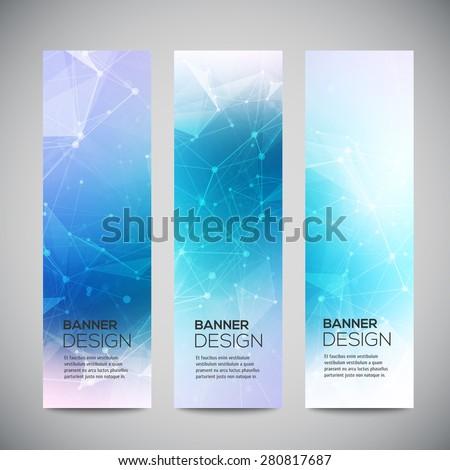 vector vertical banners set