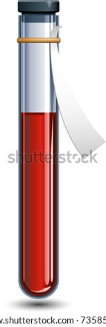 vector vial of blood over white