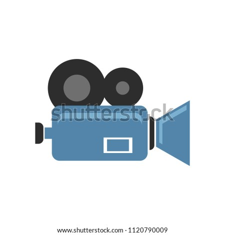 vector video camera isolated  ...