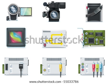 Vector video icons. Part 2
