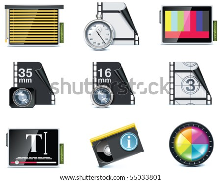 Vector video icons. Part 7