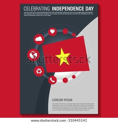 vector vietnam independence day