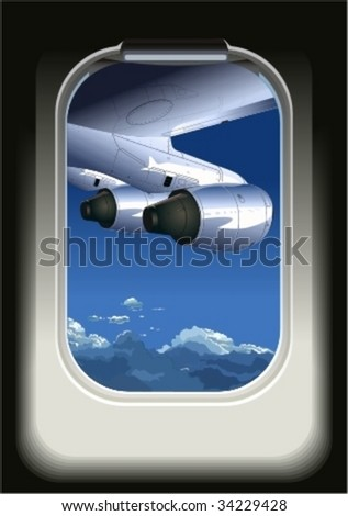 Vector view from airbus. More vector airplanes see in my portfolio.