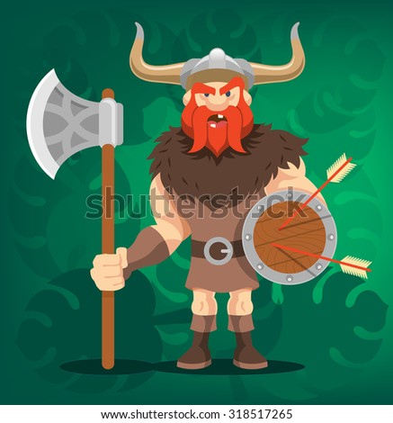 vector viking funny cartoon