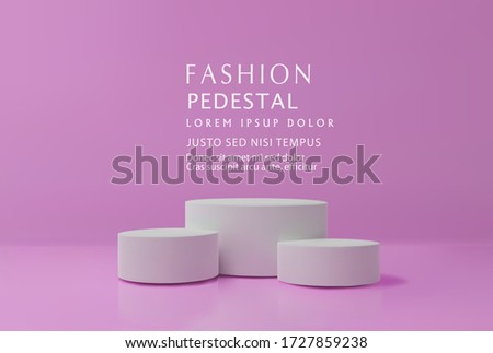 Vector vilet minimal scene , podiumfor cosmetic product presentation. Abstract background with geometric podium platform in pastel colors. Template for design, presentation, advertisement.3d rendered.