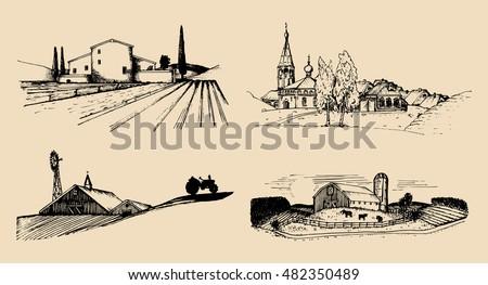 vector village landscapes
