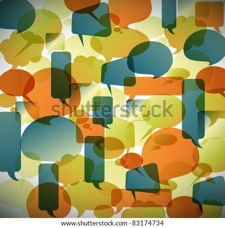 Vector vintage background made from speech bubbles