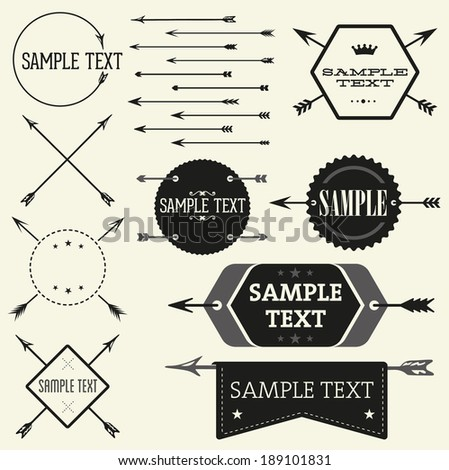 Vector vintage badge and label templates Great for retro designs