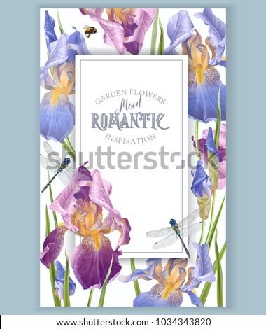 vector vintage botanical frame