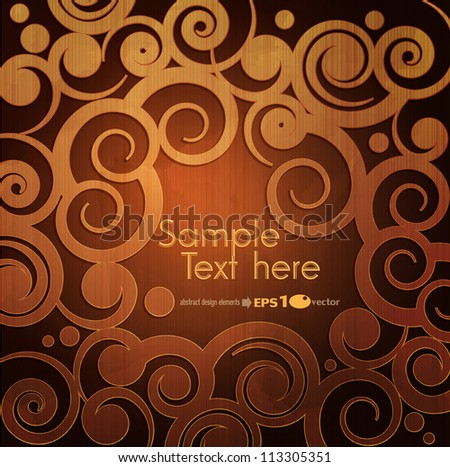 vector vintage brown background with a pattern.