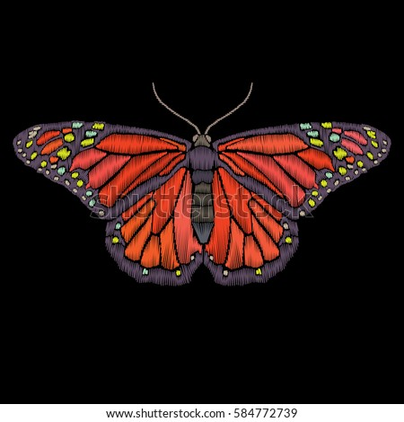 vector vintage butterfly...