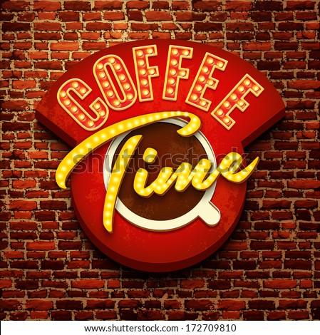 Vector vintage cafe sign