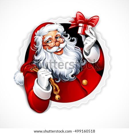 vector vintage christmas badge