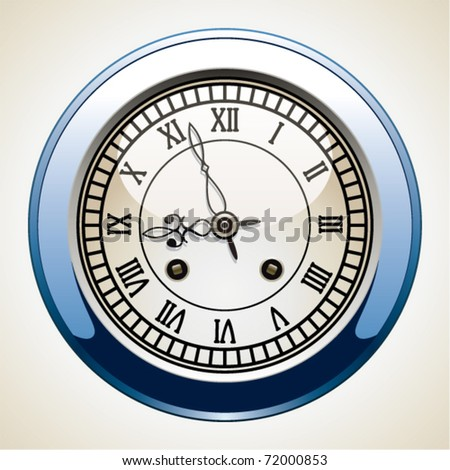 vector vintage clock with roman numbers