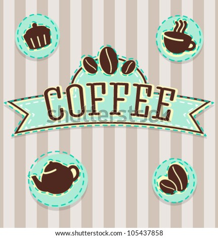 Vintage Coffee Shop Logo Vector Vintage Coffee Shop
