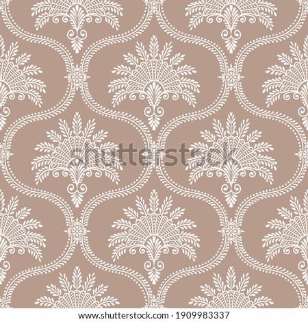 Vector vintage damask pattern design