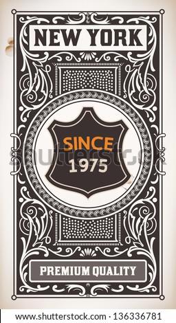 vector. vintage design