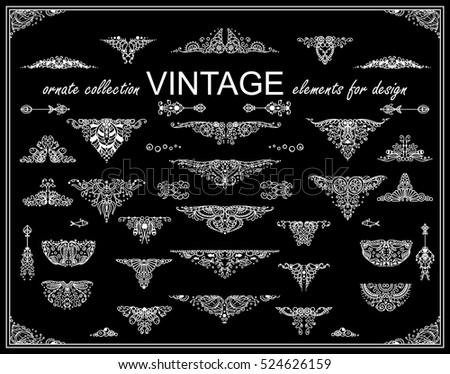 vector vintage elements for