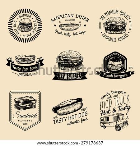 vector vintage fast food logo