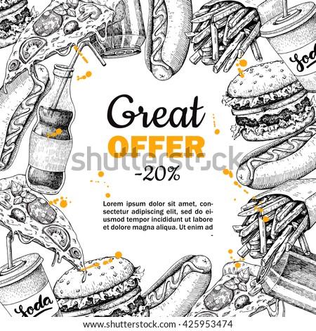 vector vintage fast food