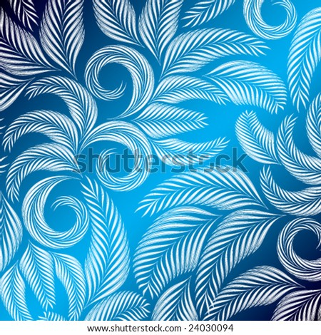 blue background vector. floral ackground blue