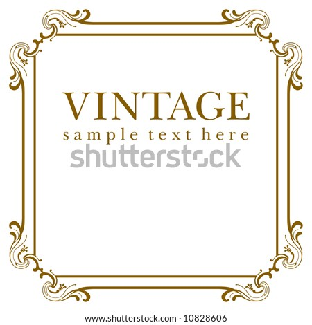 Stock Vector on Vector Vintage Frame   Stock Vector