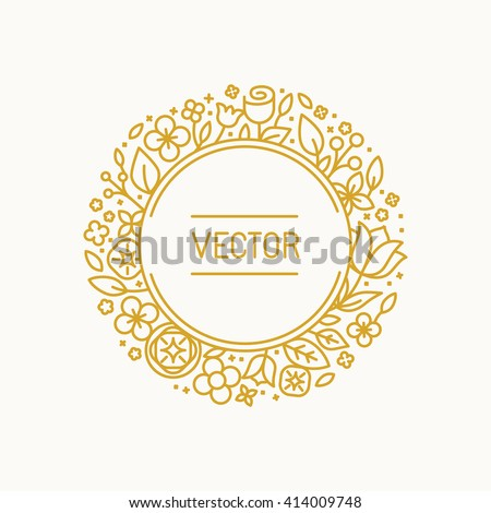stock-vector-vector-vintage-frame-in-trendy-linear-frame-for-florist-shops-and-organic-cosmetics-monogram