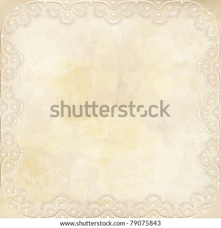 vector vintage, grunge background with lace border