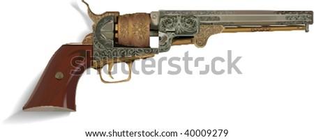 vector vintage gun  vector