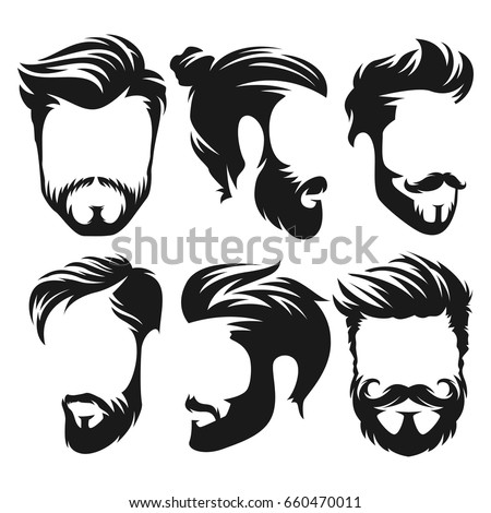 vector vintage hairstyle barber ...