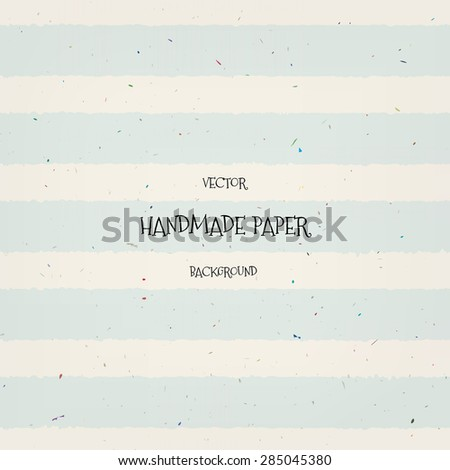 Vector vintage hand crafted lightly striped paper background