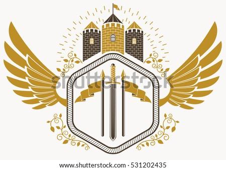 vector vintage heraldic coat of