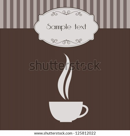 Vector vintage invitation with coffee cup
