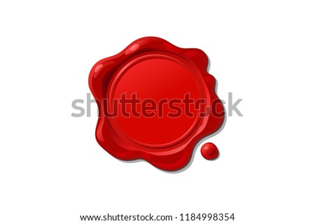 vector vintage isolated wax seal stamp shape